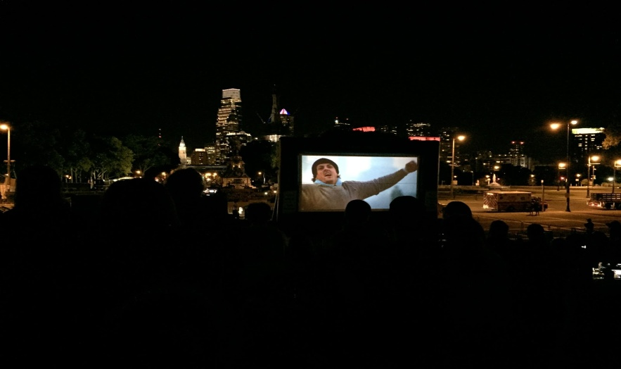 Free movie screening of Rocky on the Art Museum steps