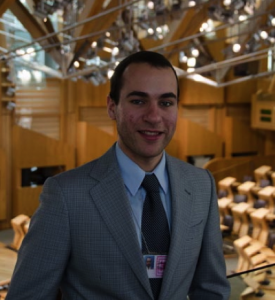 Alex Galliani '13 created his own internship opportunity at the Scottish Parliament