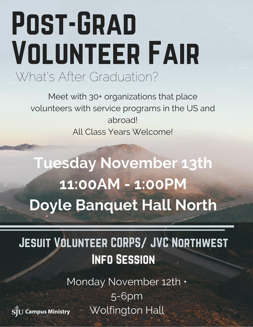 Post-Grad Volunteer Fair & JVC