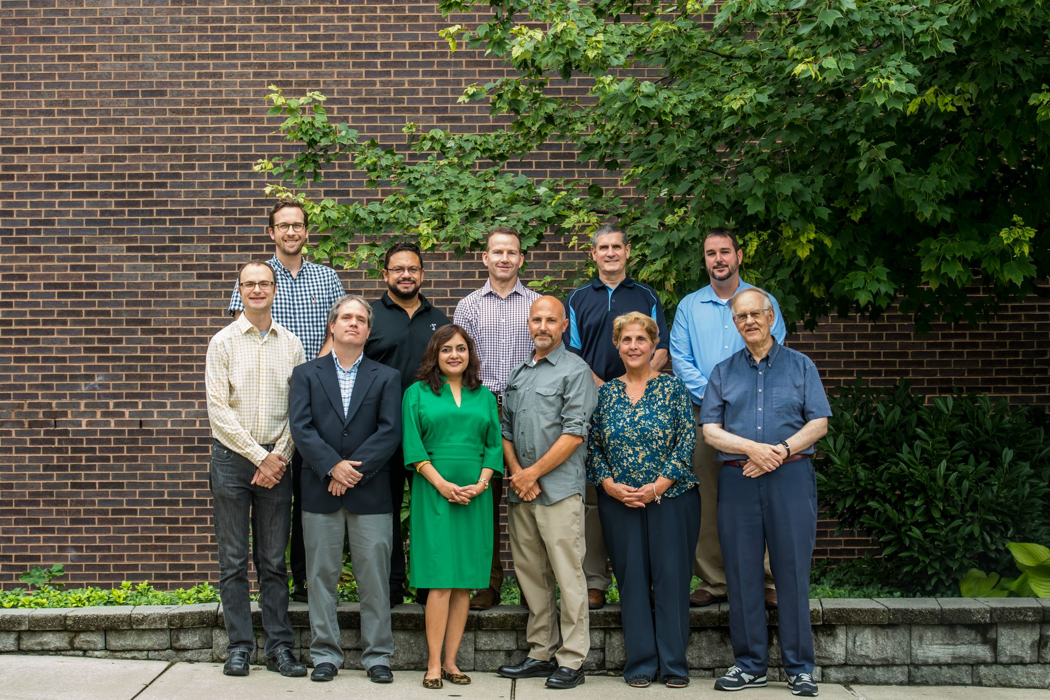 Chemistry faculty for the academic school year of 2018-2019 outside the Science Center