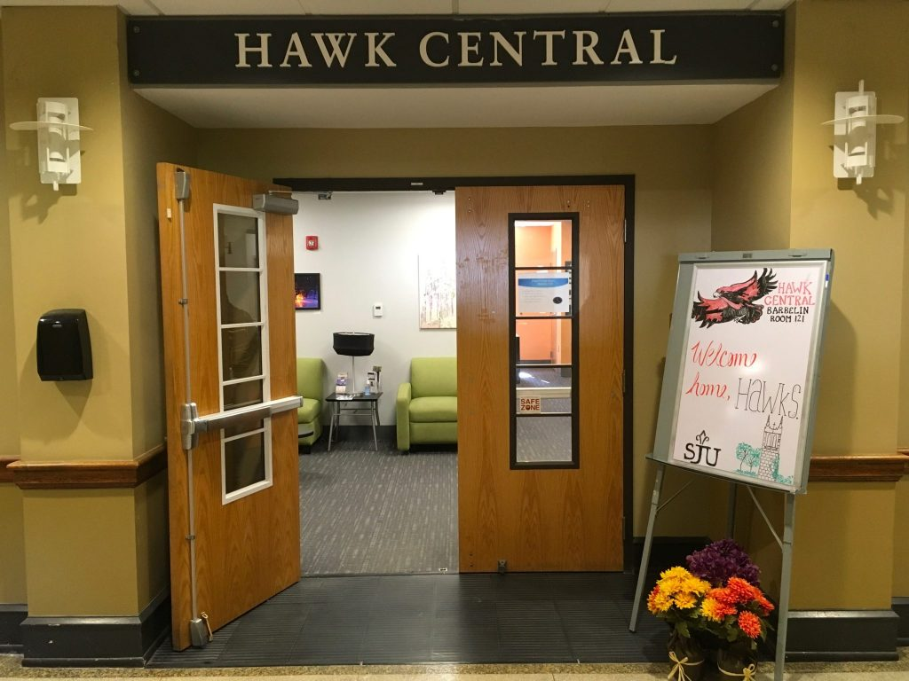 Hawk central is sju s student focused service center where counselors are available to meet with students and families to help them understand how to