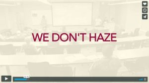 We Don't Haze from Clery Center