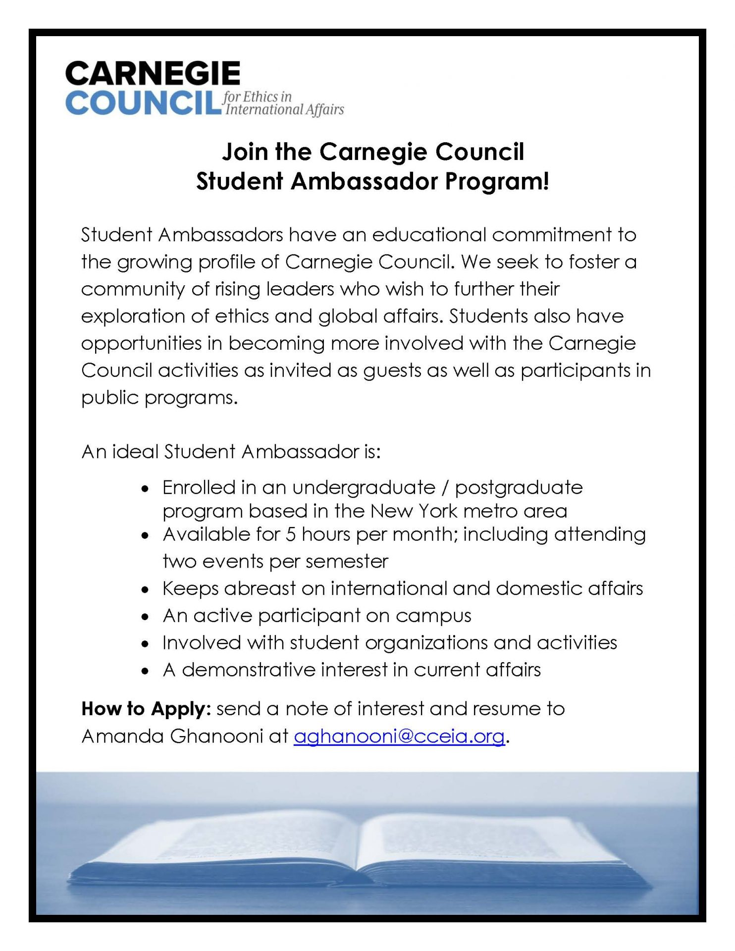 Carnegie Council Student Ambassadorship Program