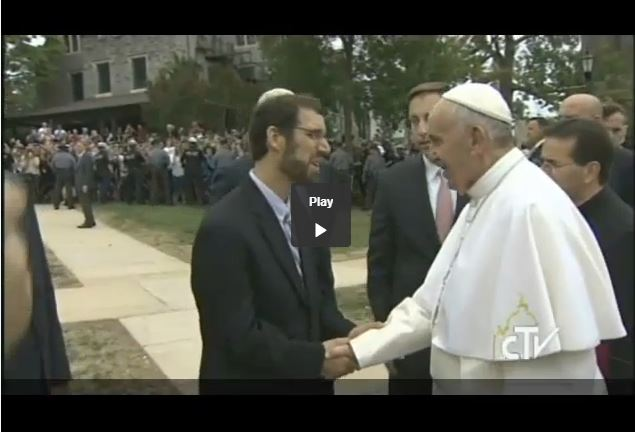 Video of Pope Francis blessing the sculpture