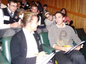 Catholic and Jewish high school students visit each other's schools in an Institute-supported program.