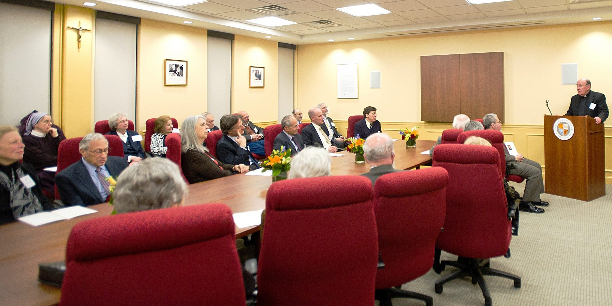 The dedication of the Clifford-Kahn Board Room.