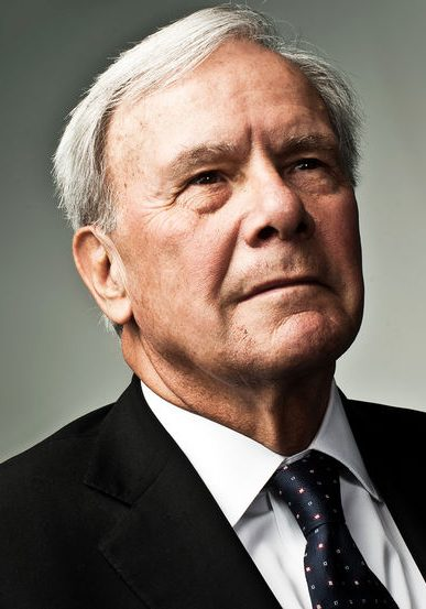 American television journalist and former NBC News anchor Tom Brokaw in Washington, DC on October 5, 2011 (Photo by Stephen Voss/Redux)