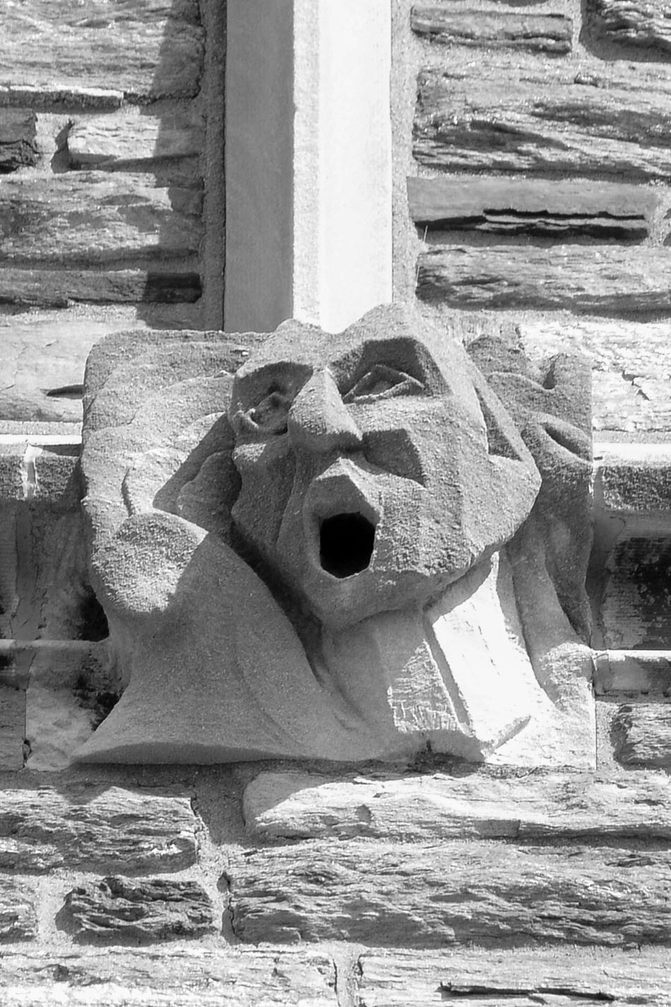 Barbelin hall turns ninety post learning commons and drexel modern art a human face is depicted reduced to its basic form and positioned over a detail of a classical architectural capital symbolizing the evolution biocorpaavc Images