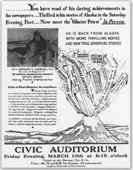 Flyer for Hubbard lecture, University of San Francisco, ca. 1932