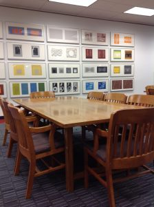 Library side 2nd floor tables