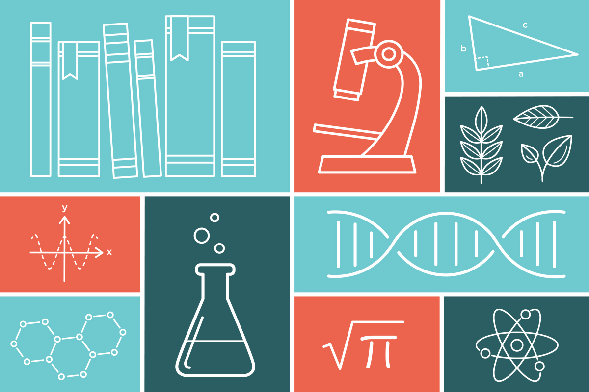 science and math icon illustrations