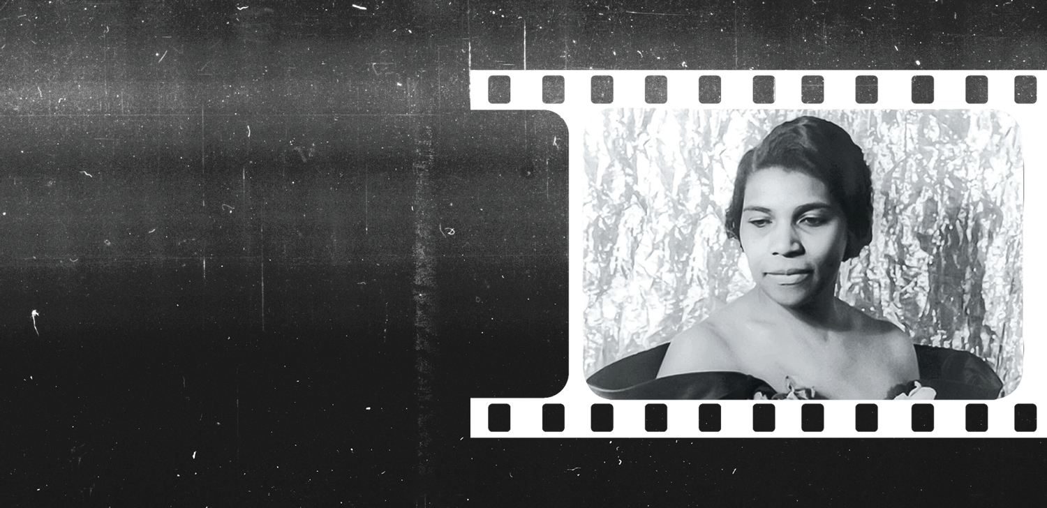 A film strip image of Marian Anderson.