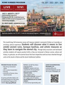 Rome-Summer-Program-Printed-Flyer
