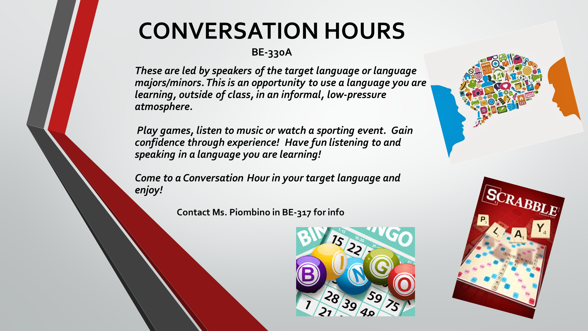 Conversation hours 2 | Modern and Classical Languages Department