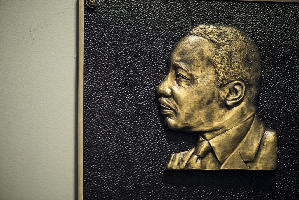 Dr. King in profile