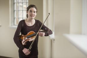 Erin Gartland with violin.