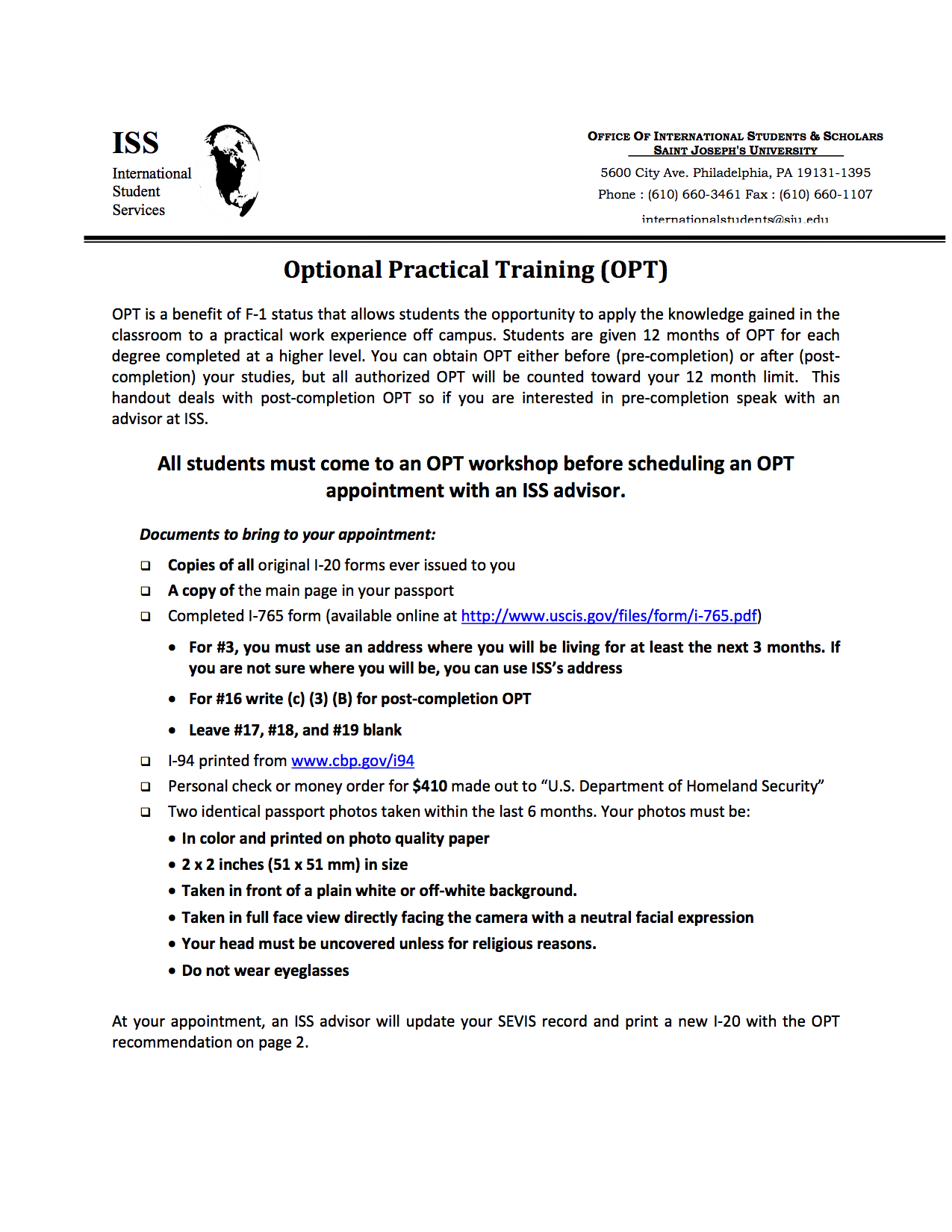 Optional Practical Training Opt Inclusion And Diversity At Sju