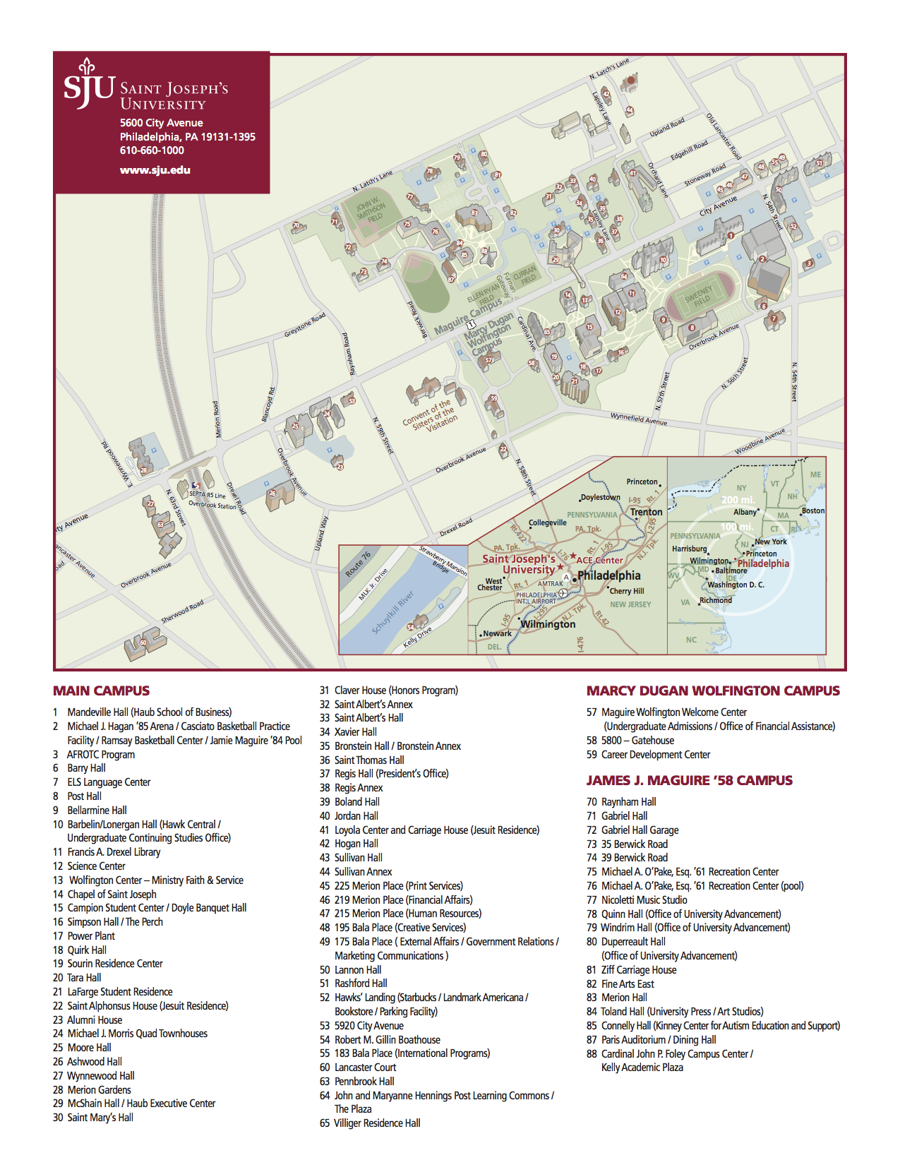 Campus Map   Inclusion and Diversity at SJU