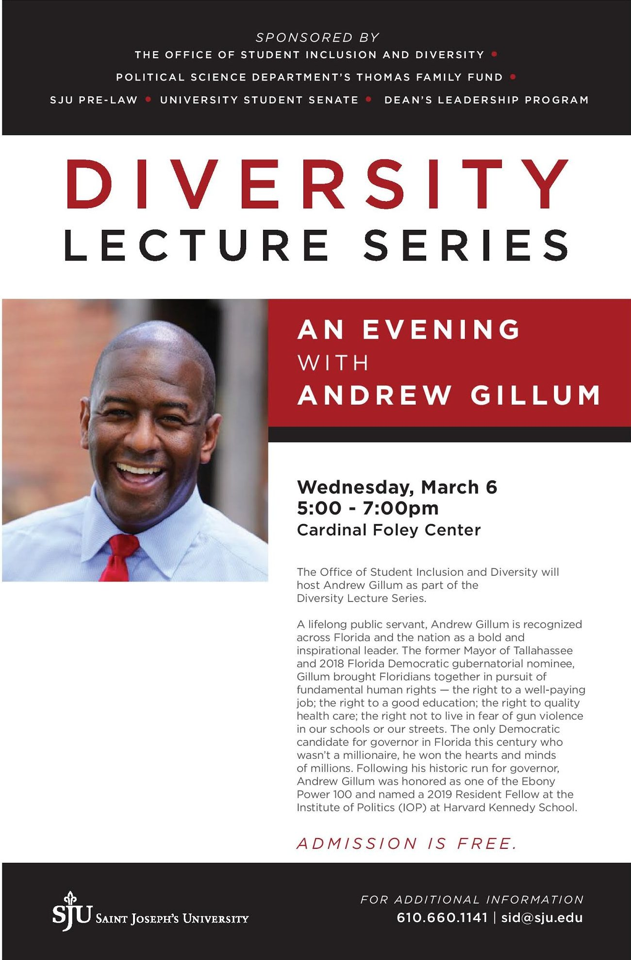 Poster of Andrew Gillum event