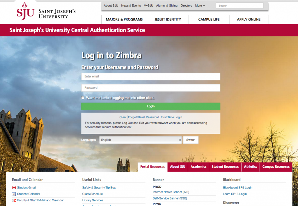 IT is CAS-ifying Zimbra! - Office of Information Technology