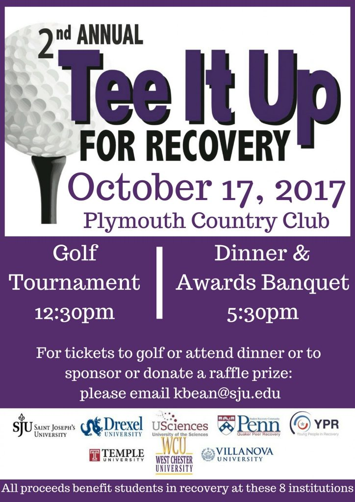 Usciences Academic Calendar.Tee It Up For Recovery Golf Outing Wellness Alcohol Drug