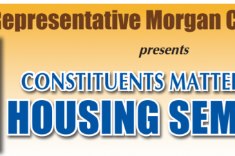 State Representative Morgan Cephas presents CONSTITUENTS MATTER SERIES HOUSING SEMINAR